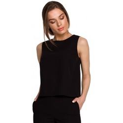 Abbigliamento Donna Top / Blusa Style S257 Camicetta senza maniche - verde