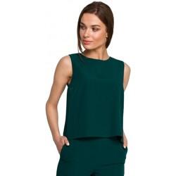 Abbigliamento Donna Top / Blusa Style S257 Camicetta senza maniche - blu reale
