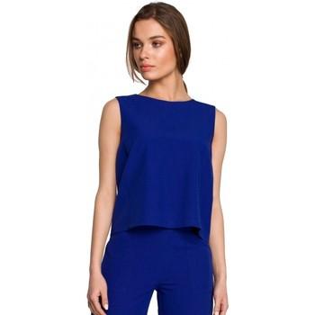 Abbigliamento Donna Top / Blusa Style S258 Abito blazer senza maniche - beige