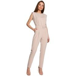 Abbigliamento Donna Tuta jumpsuit / Salopette Style S259 Tuta senza maniche con spalle imbottite - nero