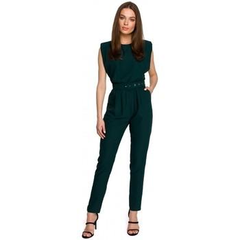 Abbigliamento Donna Tuta jumpsuit / Salopette Style S259 Tuta senza maniche con spalle imbottite - cipria
