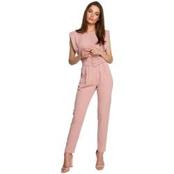 Abbigliamento Donna Tuta jumpsuit / Salopette Style S260 Camicetta senza maniche con spalle imbottite - nero