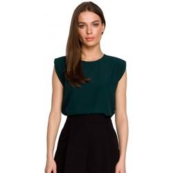 Abbigliamento Donna Top / Blusa Style S260 Camicetta senza maniche con spalle imbottite - verde