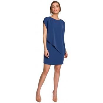 Abbigliamento Donna Abiti corti Style S262 Abito a strati - blu