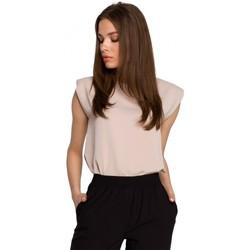 Abbigliamento Donna Top / Blusa Style S260 Camicetta senza maniche con spalle imbottite - beige
