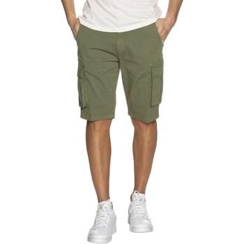 Abbigliamento Uomo Shorts / Bermuda Markup mk995200 Cargo Uomo Verde Verde