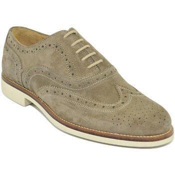 Scarpe Uomo Derby Malu Shoes Scarpe uomo francesina stringata elegante estiva scamosciata ve BEIGE