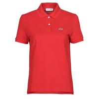 Abbigliamento Donna Polo maniche corte Lacoste POLO REGULAR FIT PF7839 Rosso