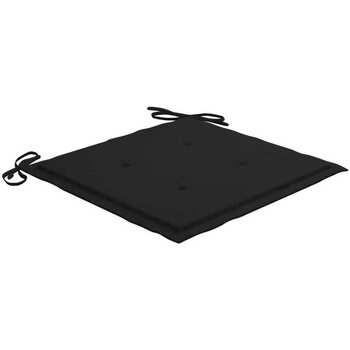 Casa Coprisedia VidaXL Cuscino per sedia da giardino 40 x 40 x 4 cm Nero