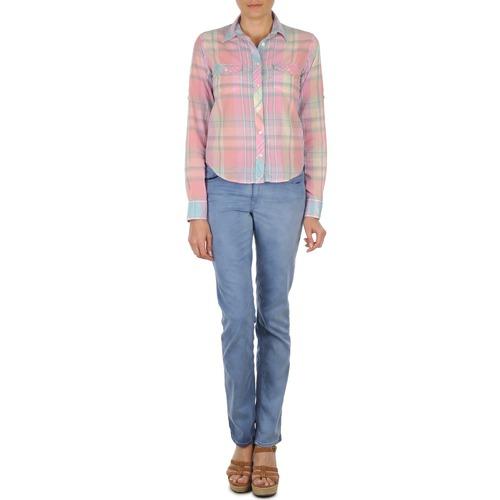 Abbigliamento Donna Jeans dritti Gant DANA SPRAY COLORED DENIM PANTS Blu