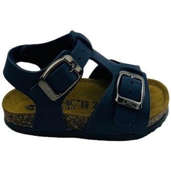 Scarpe Uomo Sandali Biochic 44053 Blu