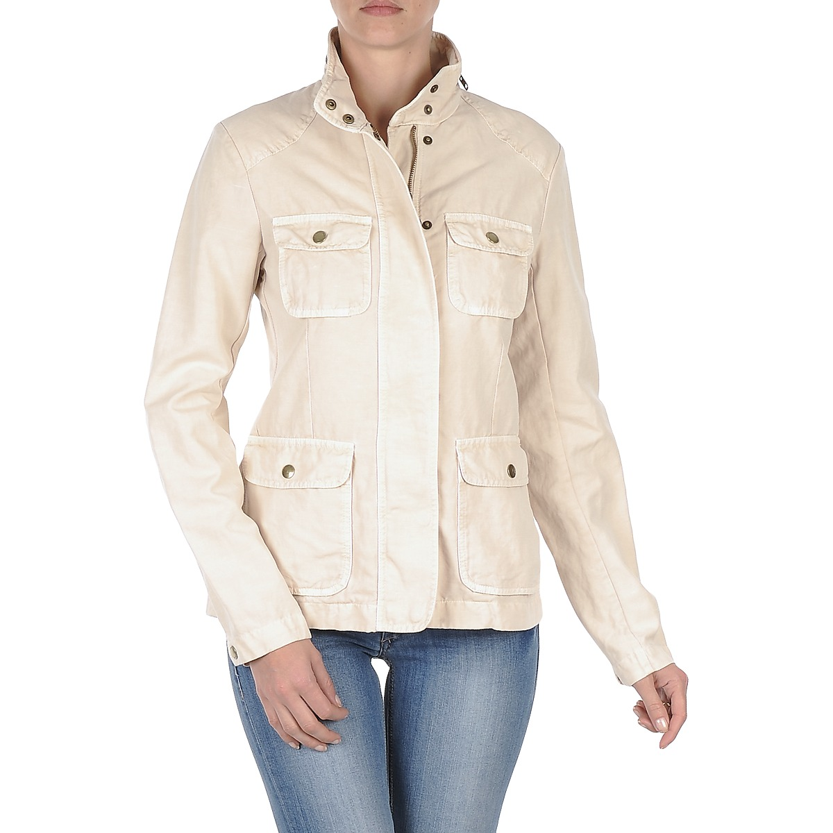 Gant COTTON LINEN 4PKT JACKET Crema