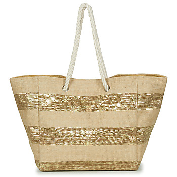 Borse Donna Tote bag / Borsa shopping Betty London  Beige / Dore