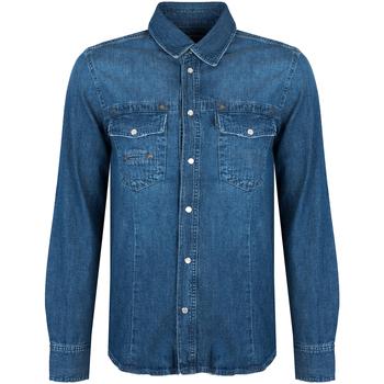 Abbigliamento Uomo Camicie maniche lunghe Bikkembergs  Blu