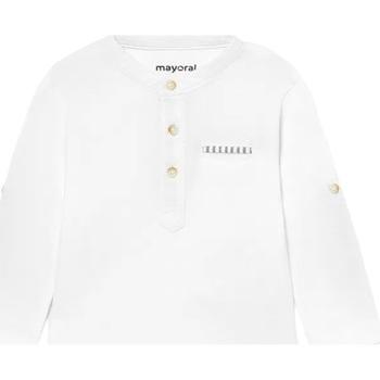 Abbigliamento Unisex bambino Polo maniche lunghe Mayoral ATRMPN-27527 Bianco