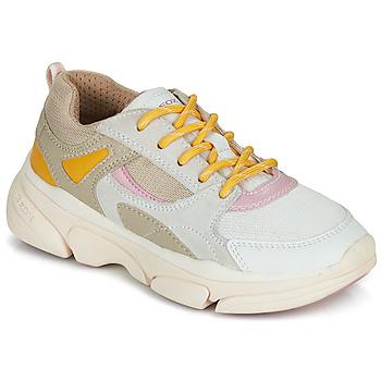 Scarpe Bambina Sneakers basse Geox J LUNARE GIRL Beige
