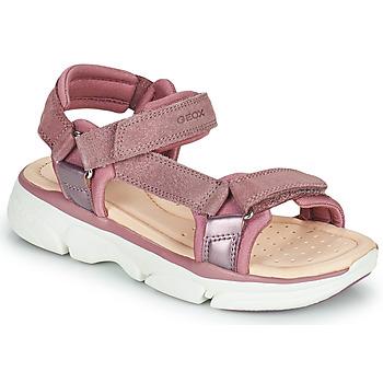 Scarpe Bambina Sandali Geox J SANDAL LUNARE GIRL Rosa
