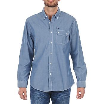 Abbigliamento Uomo Camicie maniche lunghe Lee Cooper Greyven Blu