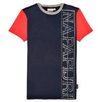 Abbigliamento Bambino T-shirt maniche corte Napapijri SAOBAB Marine / Rosso