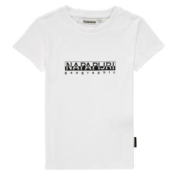 Abbigliamento Bambino T-shirt maniche corte Napapijri S-BOX SS Bianco