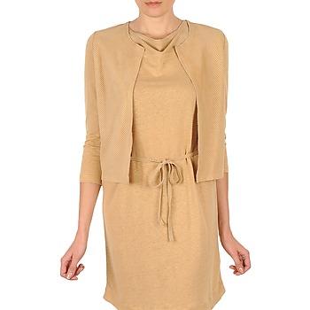Abbigliamento Donna Gilet / Cardigan Majestic BERENICE Beige