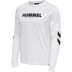 Abbigliamento Uomo T-shirts a maniche lunghe Hummel T-shirt manches longues  hmlLEGACY blanc
