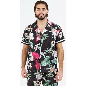 Abbigliamento Uomo Camicie maniche corte Sixth June Chemise  tropical noir