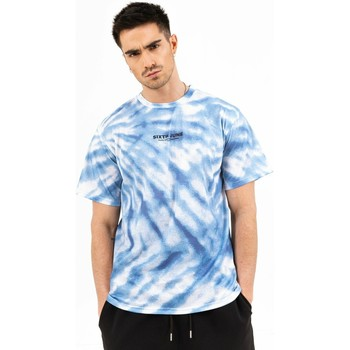 Abbigliamento Uomo T-shirt maniche corte Sixth June T-shirt  tie dye bleu