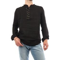 Abbigliamento Uomo Camicie maniche lunghe Mark Midor 4002-2097 Coreana Uomo Nero Nero