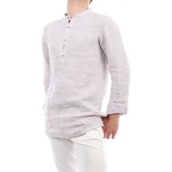 Abbigliamento Uomo Camicie maniche lunghe Mark Midor 4006-2724 Coreana Uomo Marrone & bianco Marrone & bianco