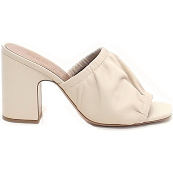 Scarpe Donna Pantofole Isabel Ferranti donna, scarpe sandalo, pelle beige 311