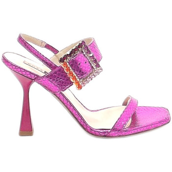 Scarpe Donna Pantofole Elegance Srl Ross Loy donna, scarpe sandalo, PA1020 pelle fuxia