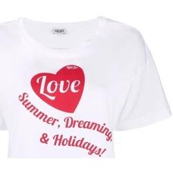 Abbigliamento Donna T-shirt maniche corte Liujo WA1478J0094 bianco ottico