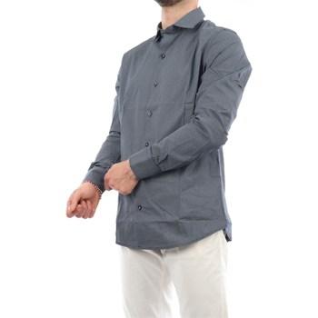 Abbigliamento Uomo Camicie maniche lunghe Mark Midor 2450-2818 Casual Uomo Grigio scuro Grigio scuro