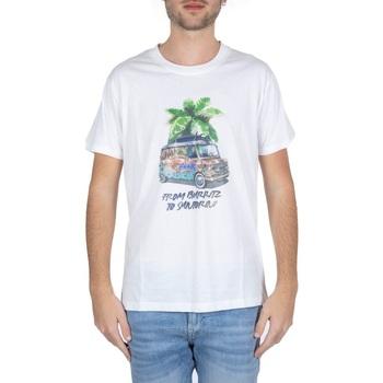 Abbigliamento Uomo T-shirt maniche corte F * * K  Bianco
