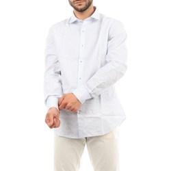 Abbigliamento Uomo Camicie maniche lunghe Mark Midor 1203-2170 Casual Uomo Bianco & celeste Bianco & celeste