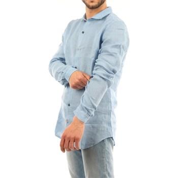 Abbigliamento Uomo Camicie maniche lunghe Mark Midor 4002-2177 Casual Uomo Celeste Celeste