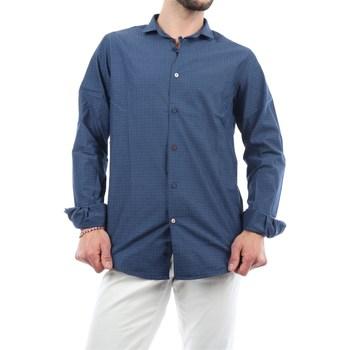 Abbigliamento Uomo Camicie maniche lunghe Mark Midor 1231-2165 Casual Uomo Blu Blu