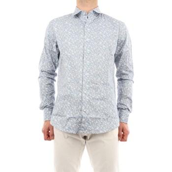 Abbigliamento Uomo Camicie maniche lunghe Mark Midor 2450-2818 Casual Uomo Bianco & celeste Bianco & celeste