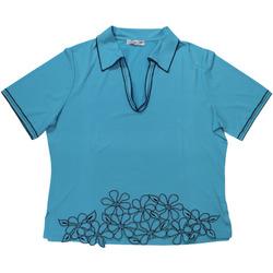 Abbigliamento Donna Polo maniche corte Gianna Oddi ATRMPN-27620 Blu
