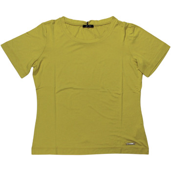 Abbigliamento Donna T-shirt maniche corte Elena Miro' ATRMPN-27629 Giallo