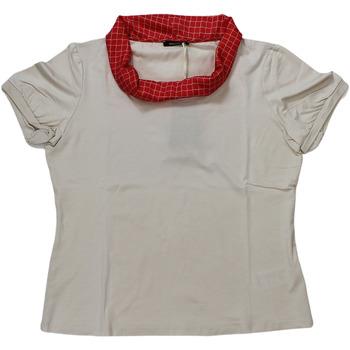 Abbigliamento Donna T-shirt maniche corte Elena Miro' ATRMPN-27633 Beige