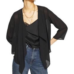 Abbigliamento Donna Gilet / Cardigan Vila 14061612 Nero