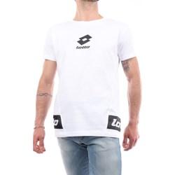Abbigliamento Uomo T-shirt maniche corte Lotto 042 Manica Corta Uomo Bianco Bianco