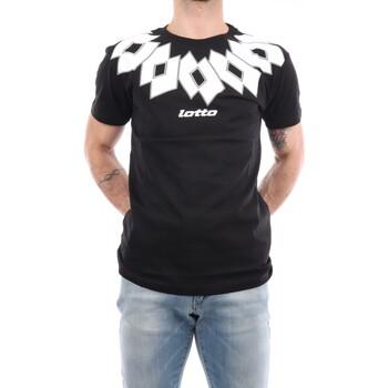 Abbigliamento Uomo T-shirt maniche corte Lotto 052 Manica Corta Uomo Nero & bianco Nero & bianco