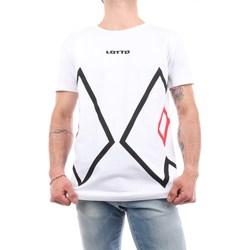 Abbigliamento Uomo T-shirt maniche corte Lotto 027 Manica Corta Uomo Bianco Bianco