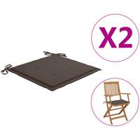 Casa Coprisedia VidaXL Cuscino per sedia da giardino 40 x 40 x 4 cm Grigio talpa