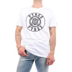 Abbigliamento Uomo T-shirt maniche corte Pyrex 40810 Manica Corta Uomo Bianco Bianco