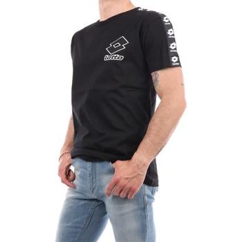 Abbigliamento Uomo T-shirt maniche corte Lotto 016 Manica Corta Uomo Nero Nero