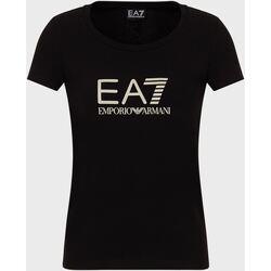 Abbigliamento Donna T-shirt maniche corte Ea7 Emporio Armani 8NTT63 Nero